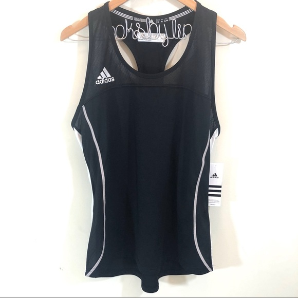 adidas Tops - Adidas Compression Tank in Black/White